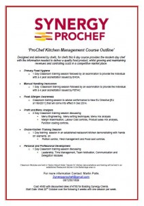 Synergy Prochef Course Flyer Part 1