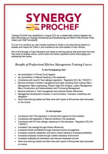 Synergy Prochef Course Flyer Part 2